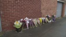 Flower tributes in Sunderland