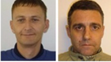 Barry Lynn (left) and Michael Forster absconded from Doncaster prison