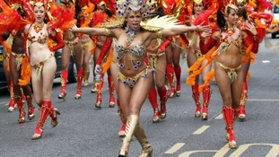 Dazzling costumes at Notting Hill Carnival.