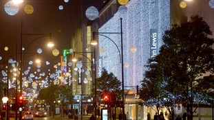 London City Center Christmas lights are an attraction in themselves.