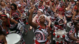 Entertainers at Europe's biggest street festival have been keeping the beat.