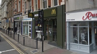 Two men targeted the McDonald's on Bedford High Street.