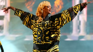 Rihanna performing at T in the Park in 2013