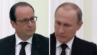 Putin backs Hollande's terror plan but doesn't see eye-to-eye with French president