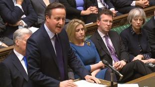 David Cameron addressed Commons yesterday