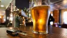 There has been a dramatic fall in drink driving offences.