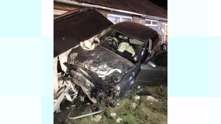 The car was left with substantial damage