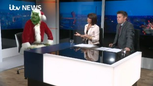 WATCH: chaos as Grinch visits ITV Border