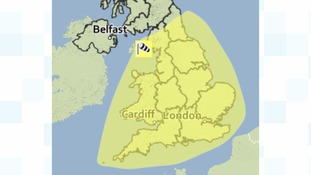 Yellow warning for wind