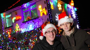The house is covered with 30,000 Christmas lights