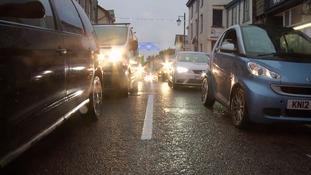 Traffic in Kendal.
