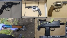 Antique guns were recovered during the investigation