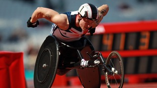 David Weir competing earlier his year