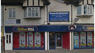 The robbery happened at the William Hill in Broomfield Road.