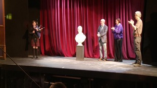 The bust of Burns has been returned to the Theatre Royal
