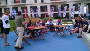 Seb Coe tweeted: 'Great meeting Paralympics GB in the Village. All focused and raring to go'
