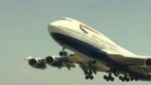 A British Airways plane takes off from Heathrow