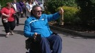 Crowds gathered to watch the Paralympic flame in Cheshire today.
