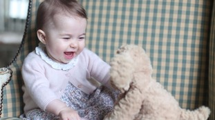 Princess Charlotte is pictured at the family's home in Norfolk. Credit: HRH The Duchess of Cambridge