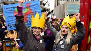 Dame Westwood joins the climate march in Central London