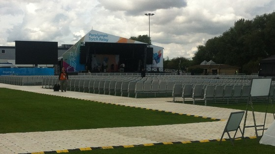 The stage in Stoke Mandeville