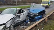 Crash in Cannock this morning