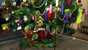 Kings Heath church creates 17ft high knitted Christmas tree