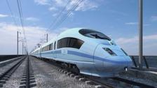 HS2 train impression