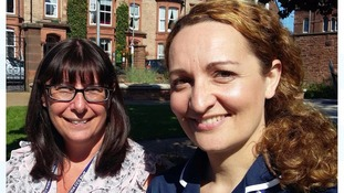 Lead Clinical Skills Nurse Educator Suzanne Beaty and CLIC project co-ordinator  Claire Watters