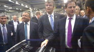 Nick Clegg visit