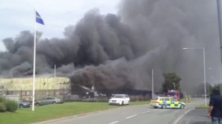 Deeside factory evacuated during blaze