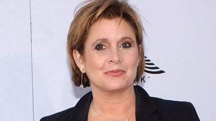 Carrie Fisher, who plays Princess Leia