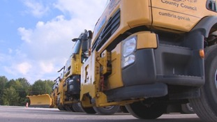Cumbria County Council's fleet of gritters