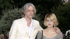 Bob Geldof with his daughter in 2009.