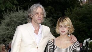 Bob Geldof with his daughter in 2009.