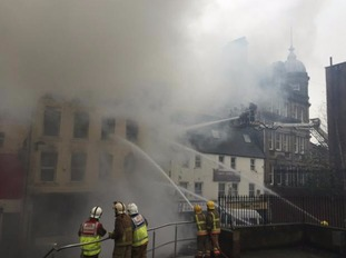 A new photo shows the impact of the blaze.