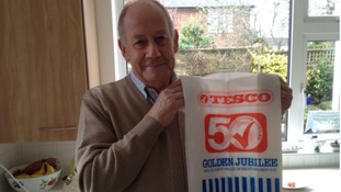 It's a bag for life! Shopper uses same Tesco plastic carrier bag for 34 years