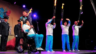 The four flames unite at Stoke Mandeville