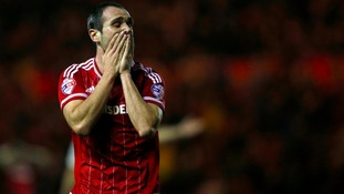 Middlesbrough's Kike rues a missed chance to score