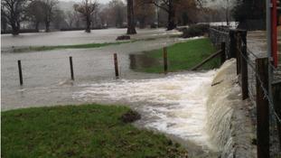 Flooding at Llanrwst