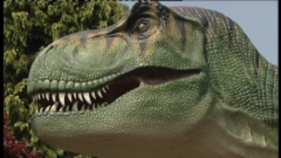 Animatronic dinosaur at Bristol Zoo