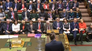 David Cameron facing the opposition benches