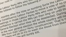 An extract from the email sent to Labour MPs threatening deselection