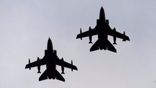 The first British airstrikes against Islamic State Syria have been launched.
