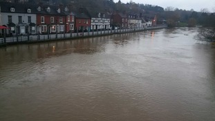 Rising water levels in Bewdley