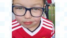 Layton Robinson-Bancroft, who is 9