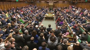 MPs gather during the historic debate on whether to bomb targets in Syria