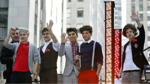 One Direction pose after performing on NBC's 'Today' show in New York earlier this month