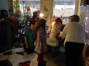Father Christmas meets the kids at Sheffield Children's Hospital