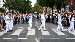 Torch has pop stop off at Abbey Road